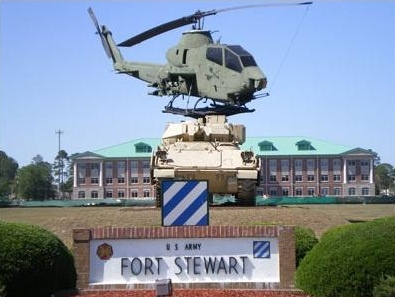Fort Stewart, GA - another HUGE Army base. This was our final destination on the big cross country move from Fort Carson.