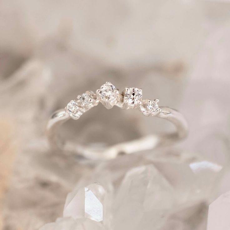 White gold diamond band. Bespoke by 27JEWELRY
