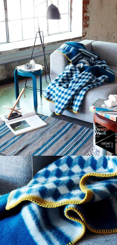 The Lynlind blankets by Andersen & Voll for Røros Tweed