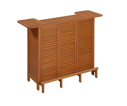 Wood u shaped outdoor bar storage cabinet table patio for U shaped outdoor bar