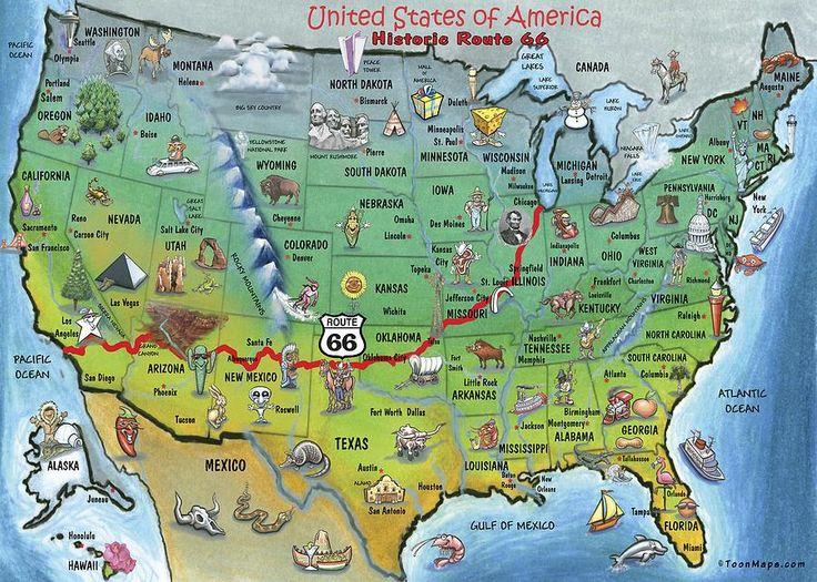 Mapa Rota 66