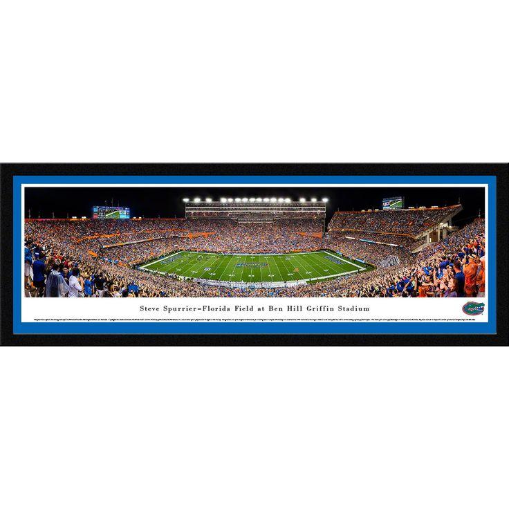 Worldwide Blakeway Panoramas 'Florida Gators Football - 50-yard Line' Framed Print