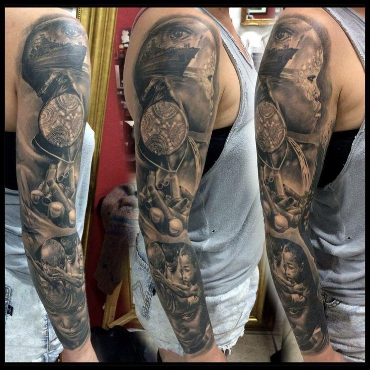 Roberto da Silva History tattoos, Sleeve tattoos