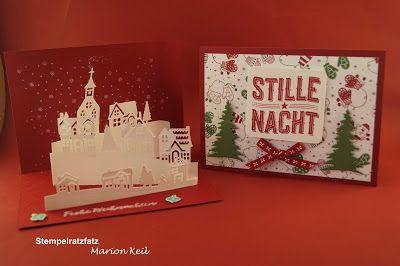 """Stempelratzfatz - Kreativ mit Stampin´ Up!®: Weihnachtskarte """"Winterstädtchen"""" zum Aufklappen m..."""