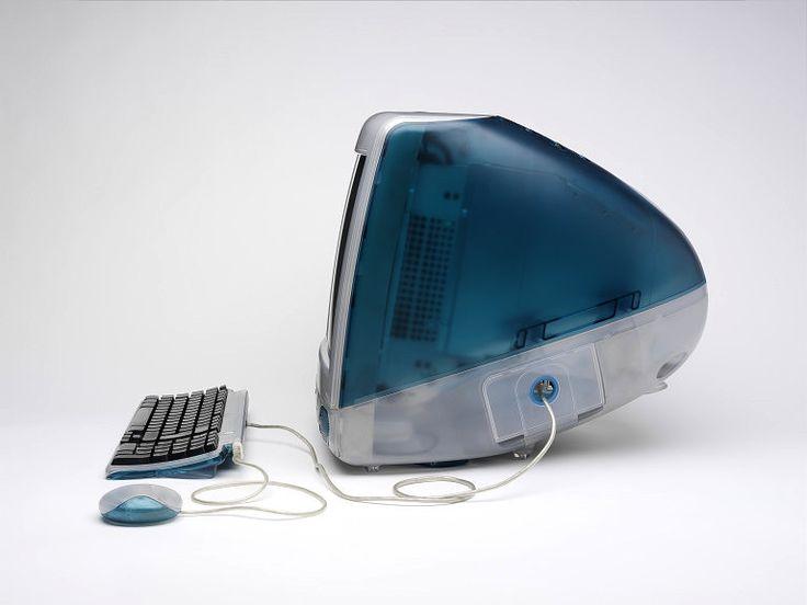 iMac G3 by Jonathan Ive, Apple, 1998: The original iMac G3 in Bondi Blue invited the general public to the personal computer. http://tinyurl.com/87yalrw   #iMac_G3 #Jonathan_Ive #Apple @RTPinterests
