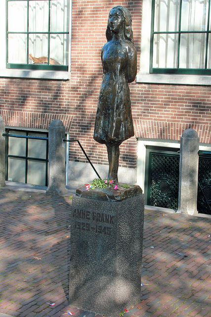 I can't believe how a 13 year old girl can leave such a big impression on people - Alex Nijmeh      Anne Frank statue, Amsterdam