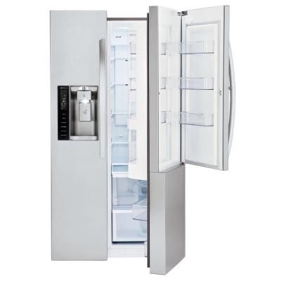 lg electronics 261 cu ft side by side in stainless steel with door