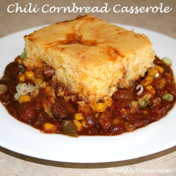 CHILI AND CORNBREAD CASSEROLE