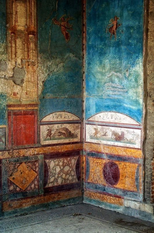 Wall painting in Pompeii
