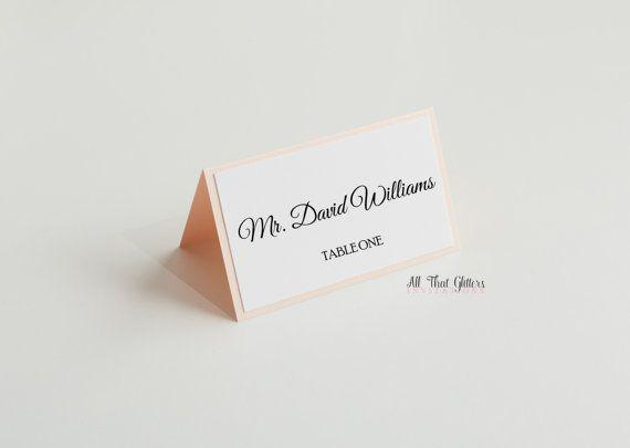 50 Wedding Tisch Karten mit Beschichtung  von ATGInvitations