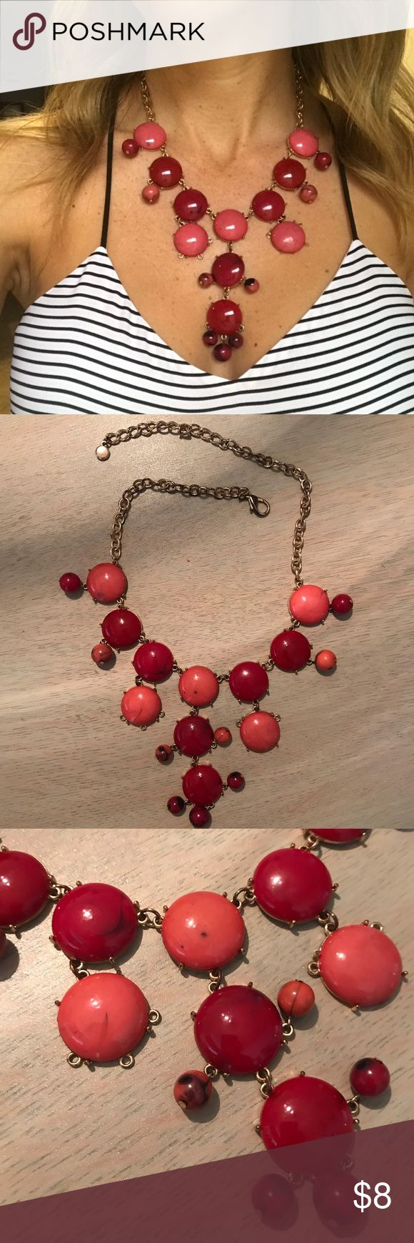 Red bubble necklace ❤️ Red bubble necklace with gold hardware. Adjustable! Jewelry Necklaces