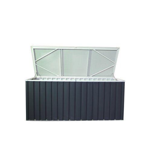 Tepro Aufbewahrungsbox aus Metall 770l Gartenbox Gerätebox Auflagenbox