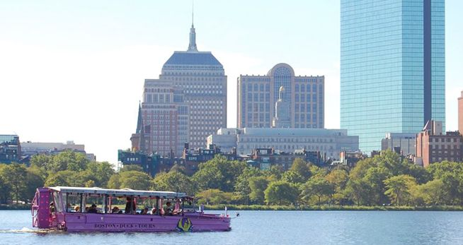 Tour the city in one of these unique and fun duck boats.