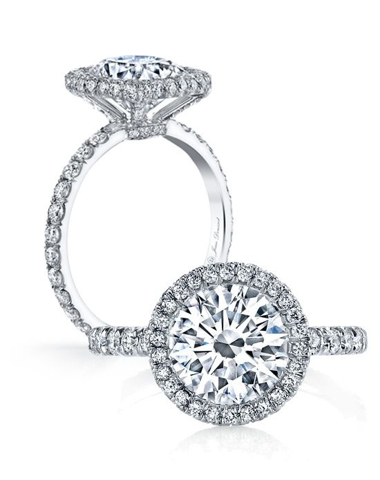 @Jean Loang Dousset does it again! We're in love with the Eva - Round Engagement Ring. Hello gorgeous!