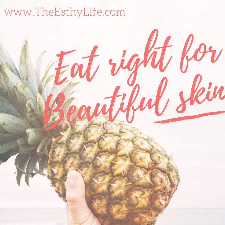 Eating the right foods will give you glowing skin! http://theesthylife.com/2017/06/23/eating-healthy-beautiful-skin/