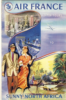 1950 Air France / North Africa Brochure - love to get there someday