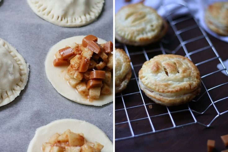 Blubbernde Apfel-Zimt-Füllung, gesalzenes Karamell und ein Teig, der beim Reinbeißen köstlich knuspert - Salted Caramel Apple Hand Pies sind unwiderstehlich