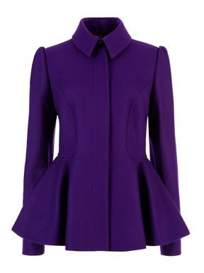 Ted Baker Sollel short peplum coat Purple www.thecarmacouture.com, Facebook - Carma Couture, Twitter -@Carma Couture