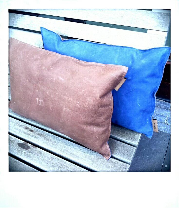 Pillows, leather