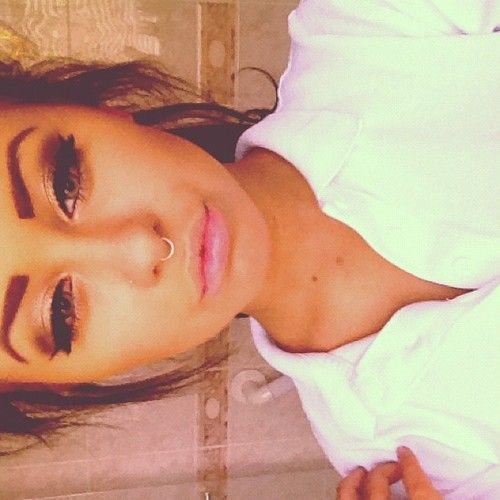 Thinking about getting my septum pierced as well because I think that the ring ones are freaking cute (: