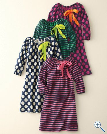 Shoelace Dresses for Girls--This looks like it's just a peasant dress with a shoelace instead of elastic at the neck.  Super simple!