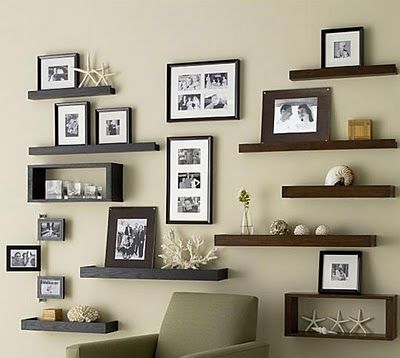 Frame ledges with a beachy theme....beautiful!