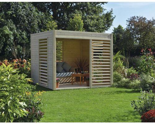 Pavillon konsta modern art 264 x 256 cm natur bei for Gartenpool hornbach