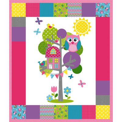 Olani Owl Fusible Applique Quilt Kit-