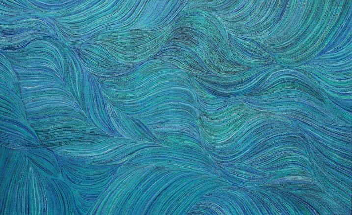Yam Dreaming by Anna Petyarre, 150x90 cm   #AboriginalArt