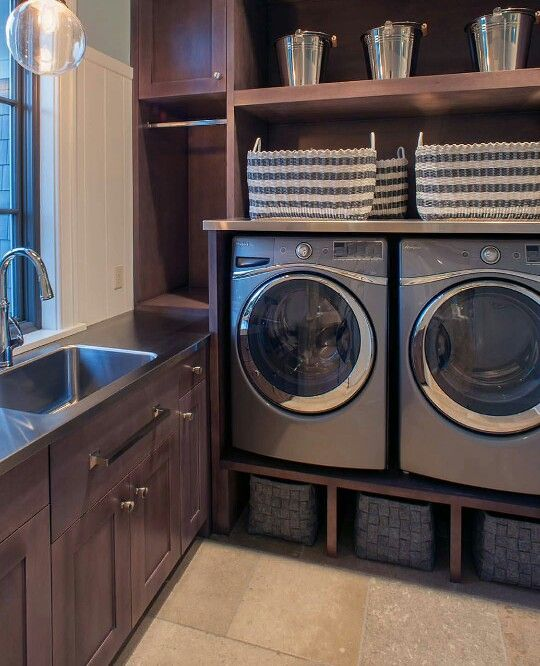 Laundry but no wood at the bottom.Build up with bricks.