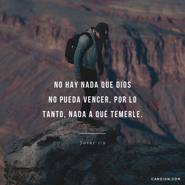 """«Mi mandato es: """"¡Sé fuerte y valiente! No tengas miedo ni te desanimes, porque el Señor tu Dios está contigo dondequiera que vayas""""». —Josué 1:9"""