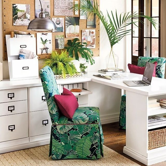 ballard home design. Add A Little Paradise To Your Paper Work With Our New Palmae Fabric  214 Best Office Images On Pinterest Ballard Designs Cable