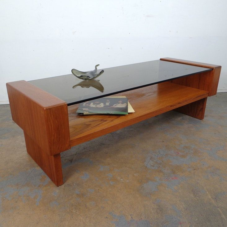 Mid-Century Teak Smoked Glass Coffee Table in West Town, Cook County ~ Apartment Therapy Marketplace Classifieds