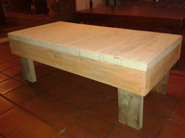 Mesa rat n de madera reciclada carpinteria pinterest - Mesas madera reciclada ...