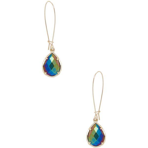 Kendra Scott Jewelry Dee Black Iridescent Glass Drop Earrings (485 MXN) ❤ liked on Polyvore featuring jewelry, earrings, gold, kendra scott earrings, fish hook earrings, iridescent jewelry, glass earrings y 14 karat gold earrings