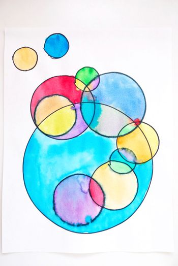 SHAPE- This is a great example of shape because it is made of many circles. They are both big and small with multiple colors. All of is very geometric.