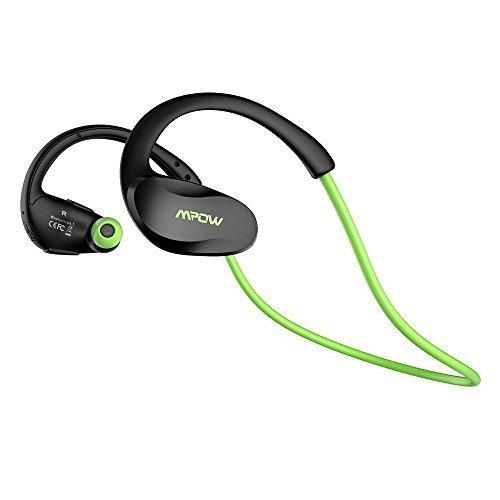 Mpow [Gen-2 Version] Cheetah Bluetooth Headphones V4.1 Nano-coating Sweatproof Sport Headphones for Running Gym Exercise Hands-free Calling-Green