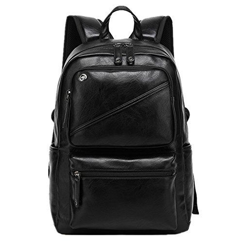 Unisex Pro Multifunctional Casual PU Leather Computer Backpack Schoolbag Traveling Bags Camping Bag Student School Backpack Rucksack Daypack Shoulder Belt Bag for Notebook Laptop PC 13 ~ 15 Inch - Black - http://handbags.kindle-free-books.com/unisex-pro-multifunctional-casual-pu-leather-computer-backpack-schoolbag-traveling-bags-camping-bag-student-school-backpack-rucksack-daypack-shoulder-belt-bag-for-notebook-laptop-pc-13-15-inch-bla/