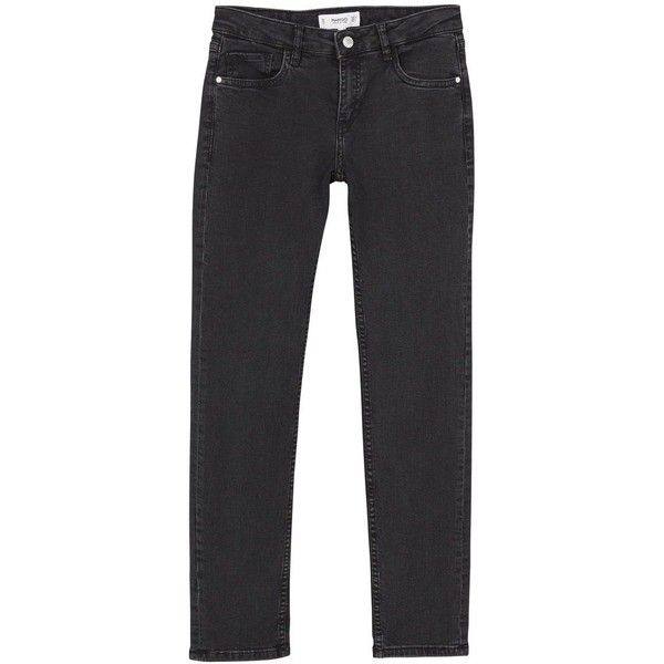 Mango Straight Alice Jeans (2.780 RUB) ❤ liked on Polyvore featuring jeans, women jeans, mango jeans, 5 pocket jeans, zipper jeans, zipper fly jeans and faded black jeans