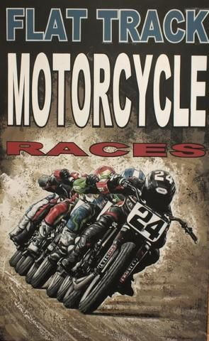 "Tony Upson: ""Flat track motorcycle races"","