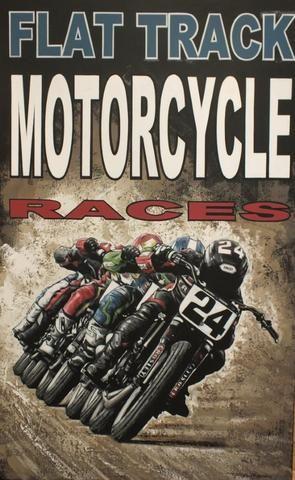 "Tony Upson: ""Flat track motorcycle races"","