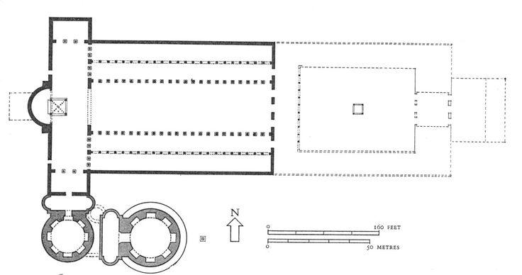 Róma: Szent Péter bazilika, I. Constantinus korában (alaprajz)