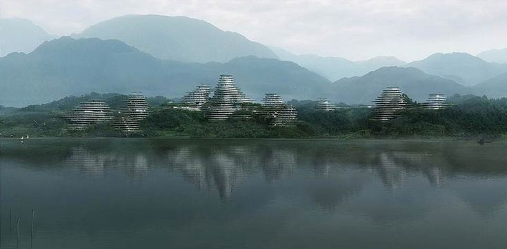 'huangshan mountain village' by MAD architects, anhui, china. http://www.designboom.com/architecture/mad-architects-shan-shui-city-guiyang-china/