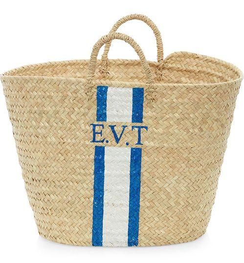 Les paniers sacs de plage monogrammes de Rae Feather