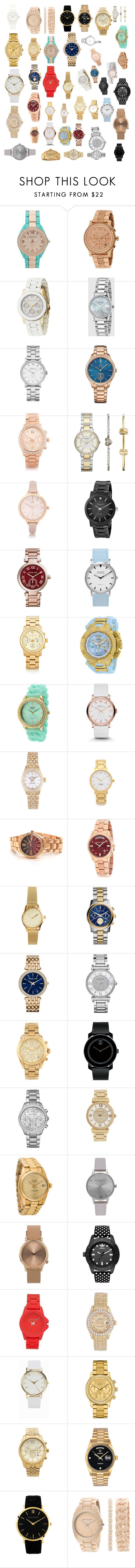 """""""'watches for yuu to steal """" by fashion-1407 on Polyvore featuring Aéropostale, Michael Kors, Gucci, Marc by Marc Jacobs, Tommy Hilfiger, FOSSIL, River Island, Kenneth Cole, Shore Projects and Versace"""