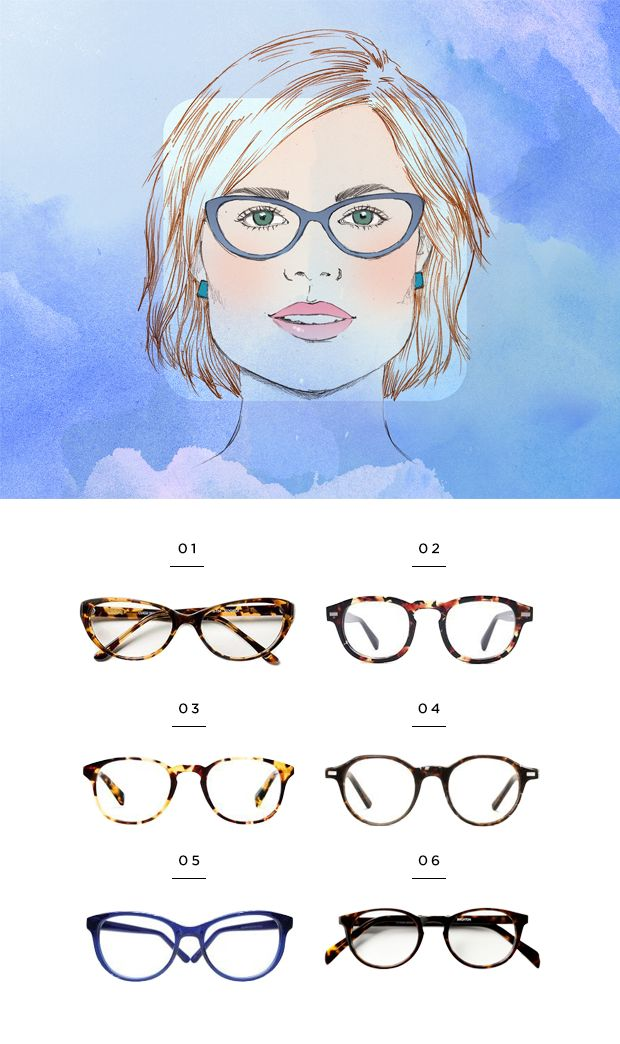 37c2fa1b047 The Most Flattering Glasses for Your Face Shape