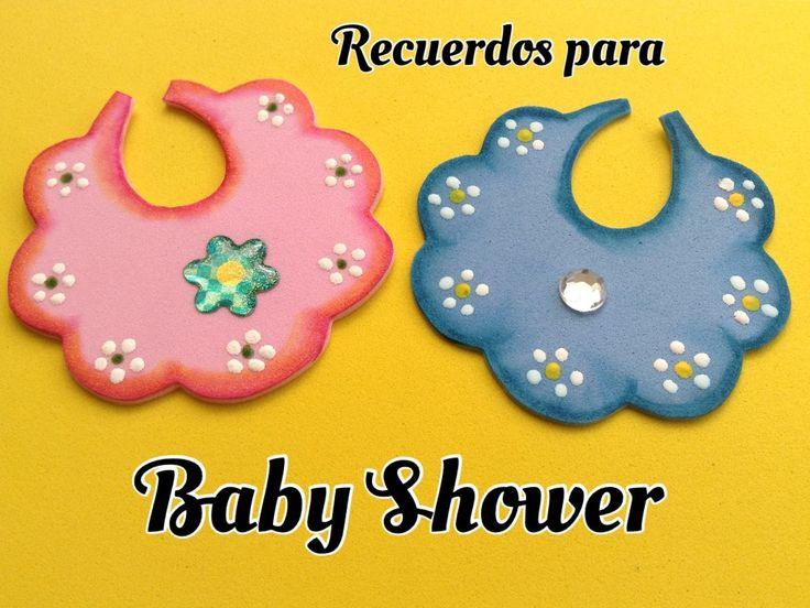 BABERITO PARA BABY SHOWER DE FOAMY .