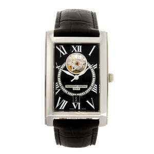Lot: 140 FREDERIQUE CONSTANT - a gentleman's Heart Beat Date Carree wrist watch.  Estimate GBP: £200 - £300
