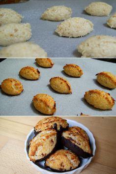 Lækre kokosmakroner, der endda kan nydes med god samvittighed, da de ikke indeholder sukker eller smør.