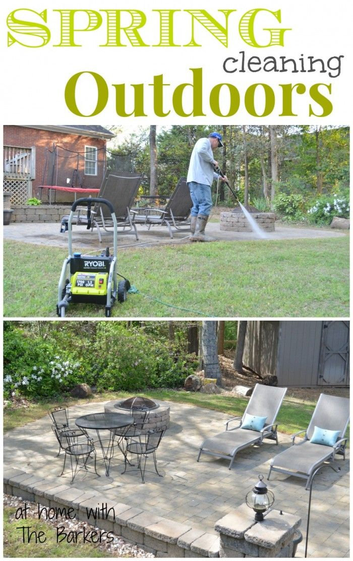 Spring Cleaning Outdoors-At Home with The Barkers with Ryobi